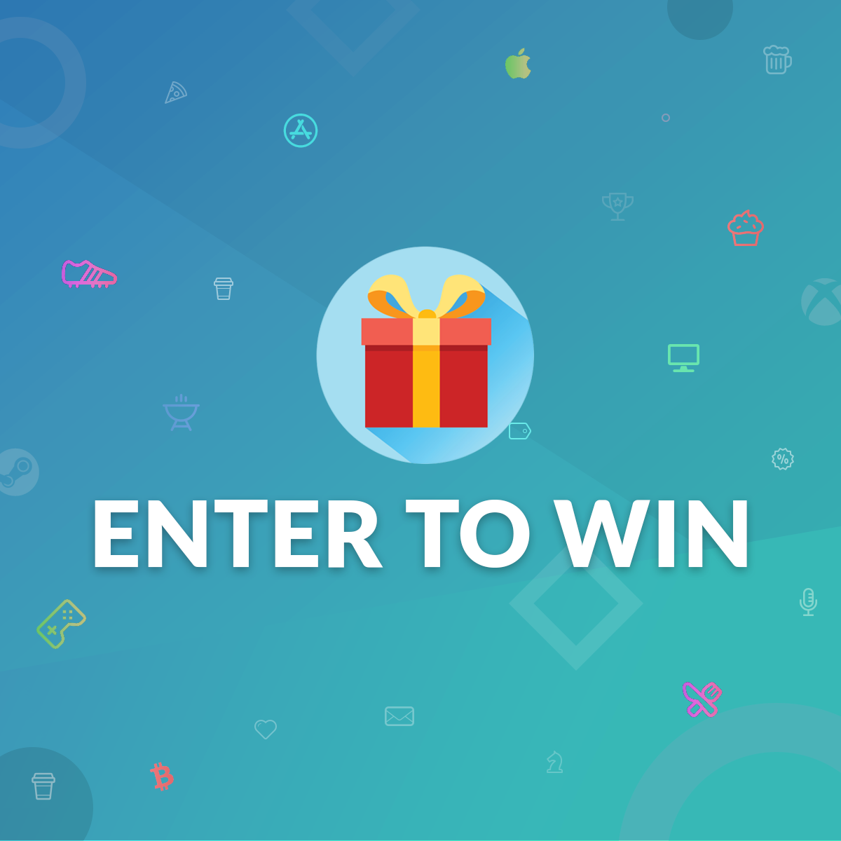 Enter to win 1 of 10 chances for up to $100 in Steam gift cards Giveaway Image